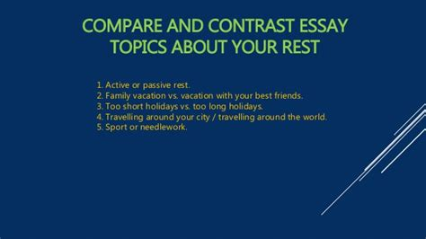 Compare And Contrast Essay Prompts by 7 Effective Application Essay Tips For Compare Contrast Paper Topics
