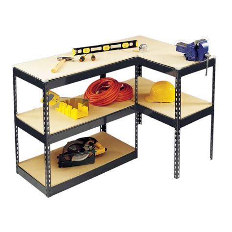 work bench shelves 1 8m boltless racking work bench garage workshop warehouse