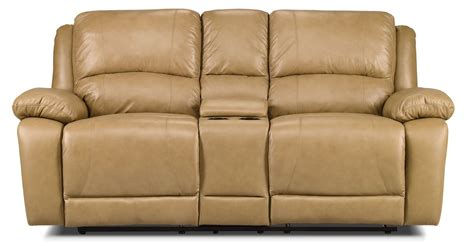 genuine leather loveseat marco genuine leather power reclining loveseat toffee