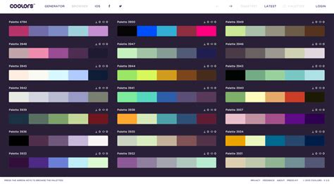 cool color combinations cool color schemes app for cool designers