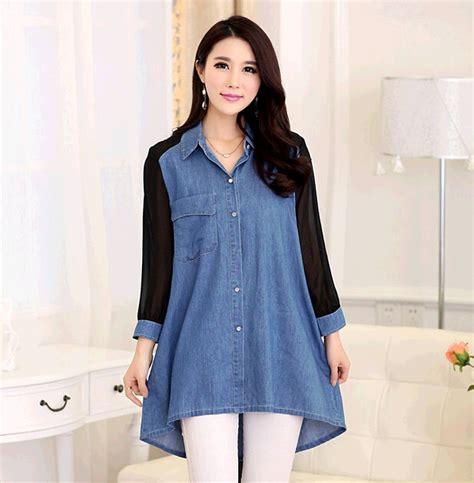 Sy0nzgb02 Big Size Blouse Dress Denim Size S M Size L s 4xl xxxxl summer denim shirt tops