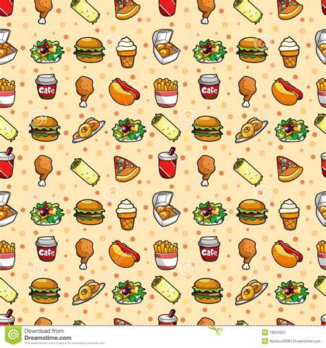 Seamless fast food pattern stock vector. Illustration of