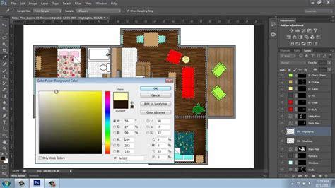 The Godfrey House Plan Adobe Photoshop Cs6 Rendering A Floor Plan Part 5