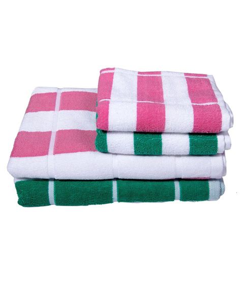 pink and green bath towels skumars touch green pink stripes towel set 2 bath towels 2 towels buy