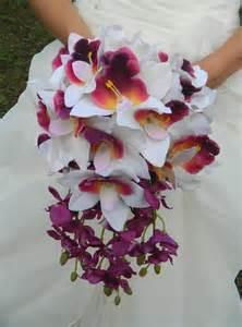orchid bouquet orchid bouquet cascade sale purple plum lavender white