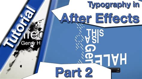 typography tutorial in after effects typography tutorial mit after effects part 2 youtube