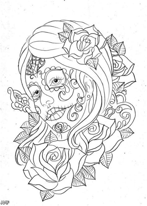 dia de los muertos couple coloring pages free coloring pages of skulls of girls