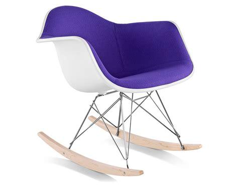 eames upholstered armchair  rocker base hivemoderncom