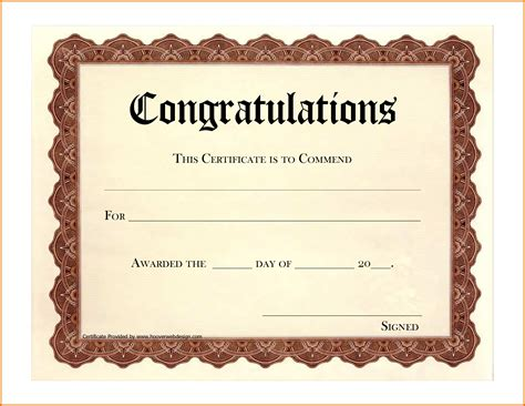 congratulations template congratulations certificate templatereference letters