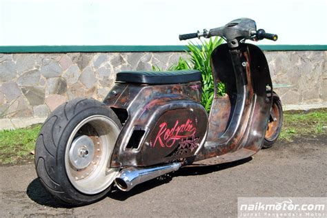 Modifikasi Motor Vespa You by Vesrod Rodjalie Modifikasi Vespa Rat Rod Ekstrem Dari