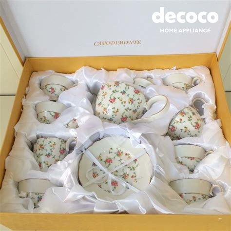 capodimonte tea set 17pcs b16 decoco