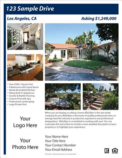 free real estate flyer and postcard templates real estate