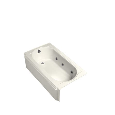 kohler whirlpool bathtubs shop kohler memoirs 60 in biscuit cast iron skirted
