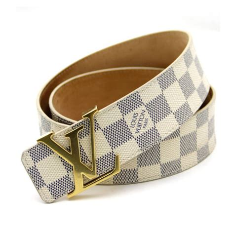 Jual Belt Lv Brown Buckle Gold Mirror Quality louis vuitton lv s initiales damier azur white golden buckle belt buy india