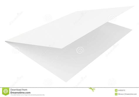 Folded Sheet Of Paper - realistic 3d rendering folded sheet of paper stock