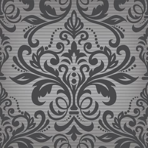damask pattern font dark damask pattern deamless vintage vector vector