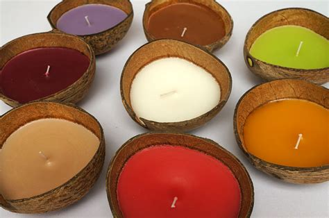 Coconut Candles Coconut Candles Candle In Coconut Shell Coconut Candle