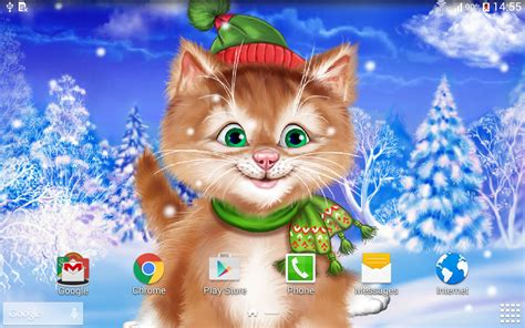 cat live wallpaper for pc winter cat live wallpaper android apps on google play