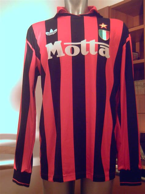 Jersey Ac Milan 92 93 Away Motta ac milan match worn shirt 1992 1993 ac milan football shirts