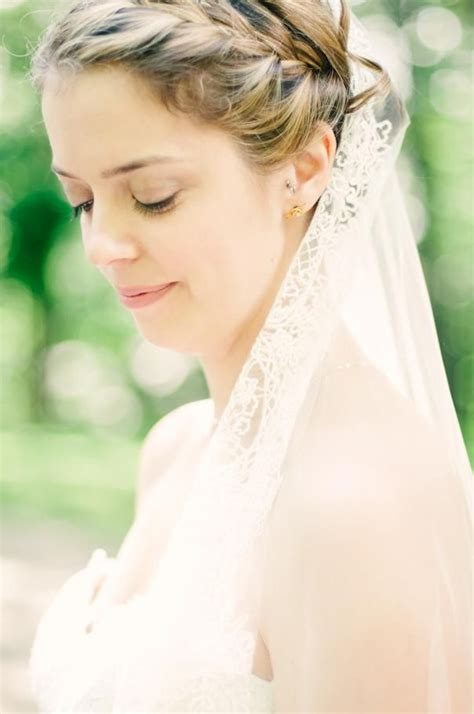 Wedding Hair Braid Veil by Wedding Hair Makeup Braid Lace Veil