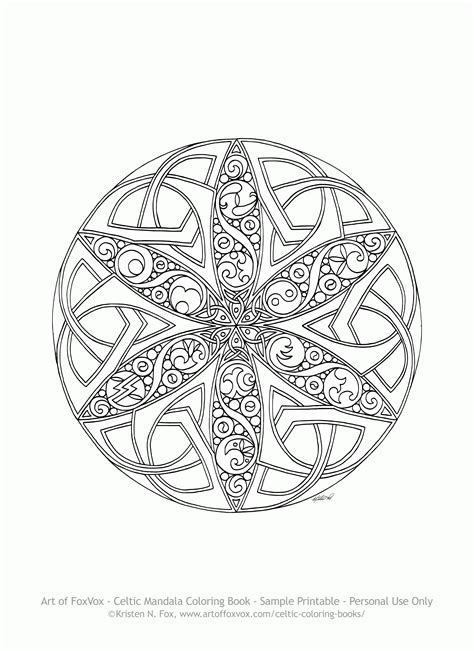 celtic mandala coloring pages printable celtic mandala coloring pages coloring home
