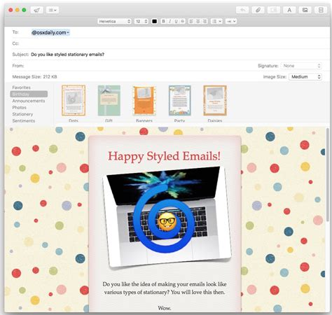 How To Use Stationery In Mail For Mac To Stylize Personalize Emails Apple Email Stationery Templates