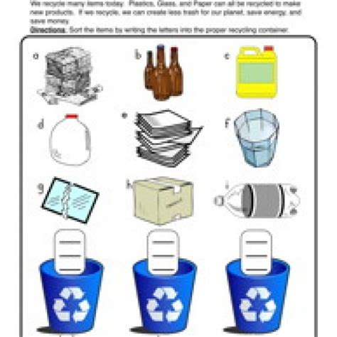 Recycle Worksheets by Recycling For Worksheets Lesupercoin Printables