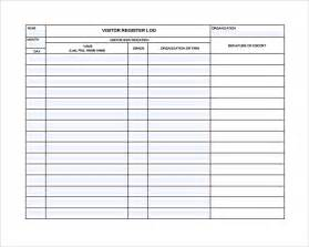 visitor log book template sle visitors log template 9 free documents in pdf word