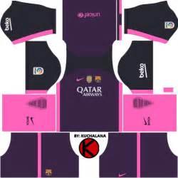 Kits fc barcelona 16 17 para dream league soccer 2016 youtube