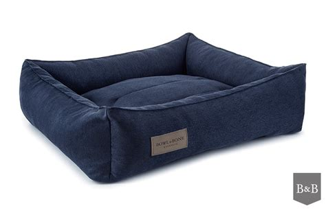 bed and bone bowl and bone urban dog bed navy luxury dog beds