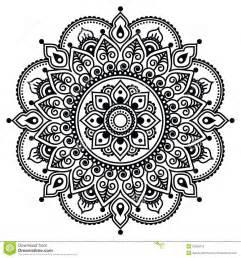 mehndi indian henna tattoo pattern or background stock