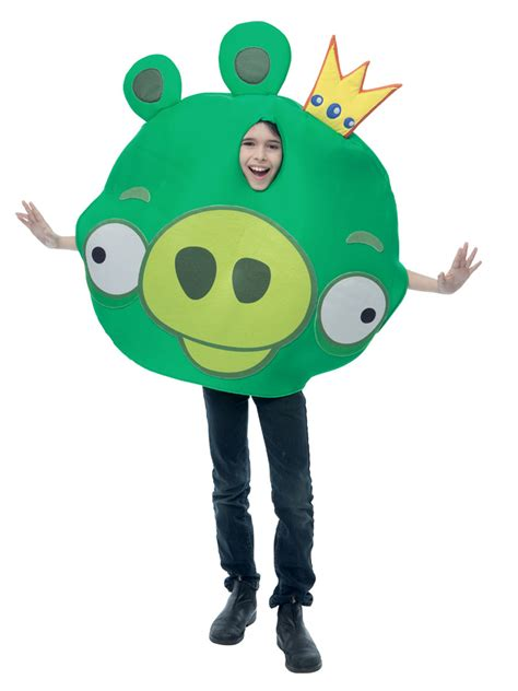 fancy dress costume adult gaming cartoon angry birds red med 38 40 child angry birds king pig costume pm769766 fancy
