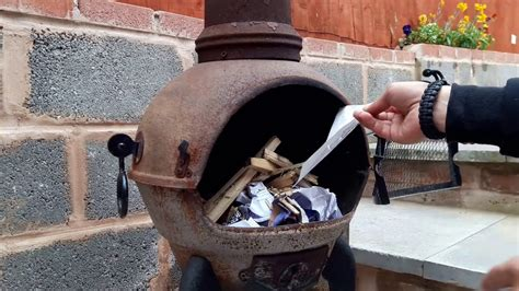 how to make a small in a chiminea iron burner