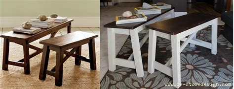 pottery barn rustic bench ana white pottery barn rustic bench hack diy projects
