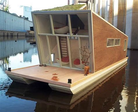 modern house boat atypical family home navigable houseboat in amsterdam by bbvh architects freshome com