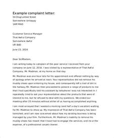 Complaint Letter About Bad Food And Service In A Restaurant Complaint Letter Regarding Bad Service Docoments Ojazlink
