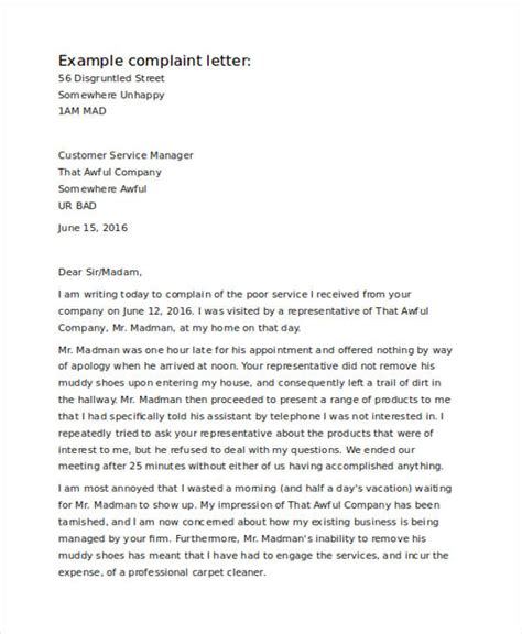 Complaint Letter For Janitorial Services sle complaint letter for bad service docoments
