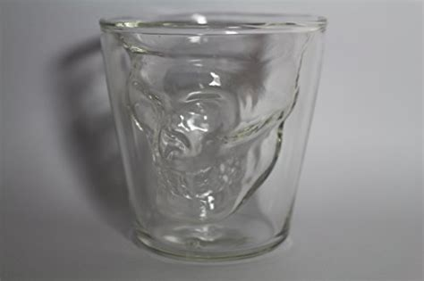 Thick Kitchen Glasses Downit Skull Glass Thick Base 1 5 Ounce