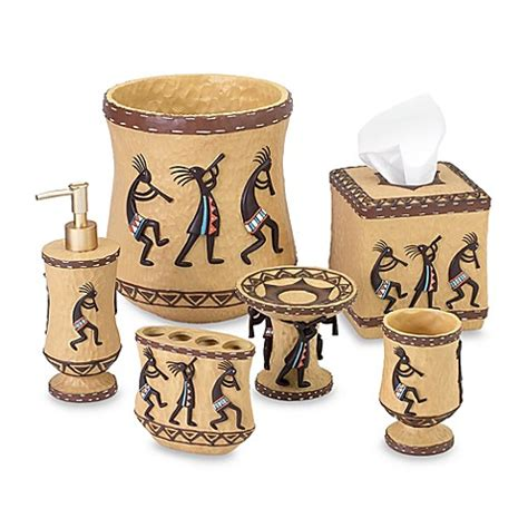 Kokopelli Bathroom Accessories Avanti Kokopelli Wastebasket Www Bedbathandbeyond