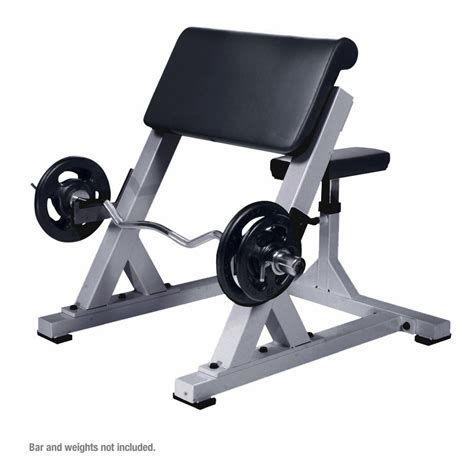 curl bar bench york commercial preacher curl bench