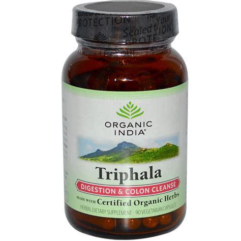 Triphala Detox Dosage by Organic India Triphala Digestion Colon Cleanse 90