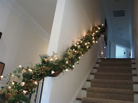garland for staircase with lights garlands with lights for stairs holidays