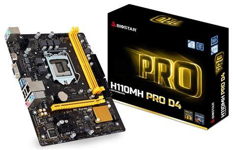 Biostar H110mh Pro D4 Lga1151 Intel H110 Ddr4 biostar h110mh pro d4 unterst 252 tzt hdmi 1 4a hardwareluxx