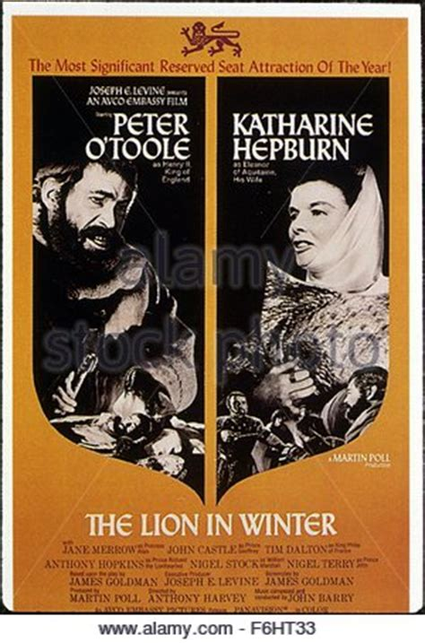 film with lion in the title katharine hepburn the lion in winter 1968 stock photo