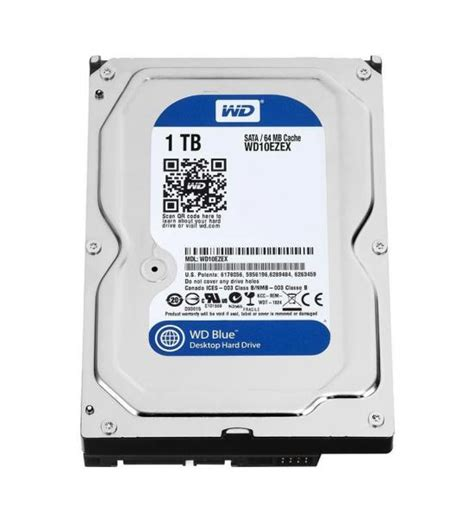 Harddisk Wdc Blue 1tb Pc 1tb western digital blue 3 5 inch sata iii 6gb s desktop drive 7200rpm 64mb cache