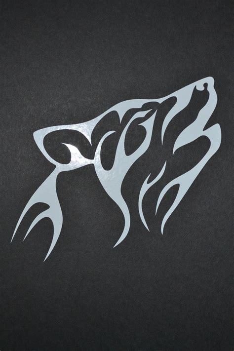 Tribal Wolf Aufkleber by Sled Dog Spirit Tribal Design Siberian Husky Sticker Decal