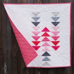 flying geese gosling modern baby quilt