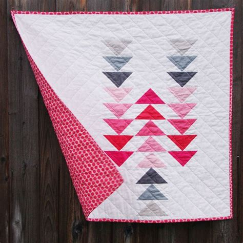 Flying Goose Quilt by Flying Geese Gosling Modern Baby Quilt