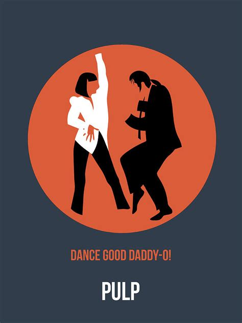 pulp fiction poster 6 digital art by naxart studio