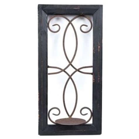 hobby candele assorted black wood metal wall candle from hobby lobby